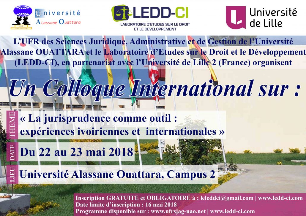 Affiche Colloque International 2018